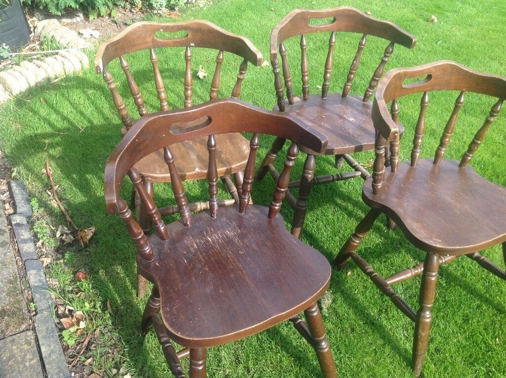 4 oak carver chairs