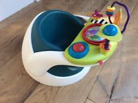 Mamas and Papas baby bumbo/snug with play tray