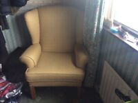 Large wing backed chair, excellent condition