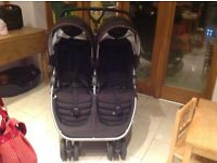 Britax B Double Buggy with raincovers
