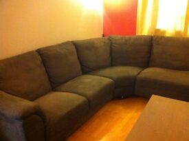 Large Grey Corner Sofa For Sale