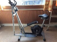 2-in-1 Cross Trainer and Exercise Bike
