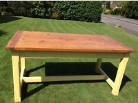 Stylish (Painted) Pine Kitchen Table