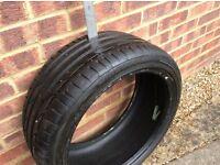 235/40/18 Bridgestone tire 5mm tread