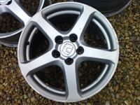 Honda Penta 17 inch alloys in gunmetal grey. Good condition with no welds or buckles. 5x114.3