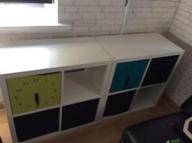 Children's shelving storage units x 2