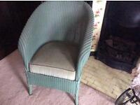 Vintage Lloyd loom tub chair