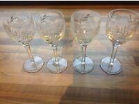 Stuart Crystal Cascade wine glasses