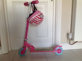 Hello Kitty foldable scooter and helmet