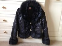 Ladies glamorous faux fur jacket