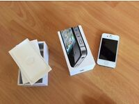APPLE IPHONE 4S 32GB FAULTY SOFTWARE PROBLEM NEW CASING MINT CONDITION WITH NEW BATTERY AND BOX.