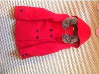Red duffle coat