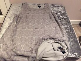 Brand new size24 dress with blouse over coat