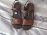Brown leather sandals size 7