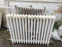 4 Victorian ideal cast iron radiators