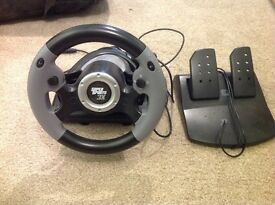 Games console steering wheel