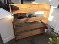 Antique wooden shelve unit with lovely detail