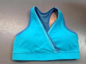 Lululemon Crossed Front Sports Bra Size 8 Blue (SKU:4K16NR)