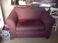 Marks and Spencer Abbey range Love Seat - Plum fabric