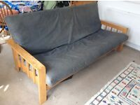 3 seater The Futon Company sofa bed with solid pine frame