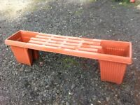 Unusual garden bench with planters at each end/beer buckets