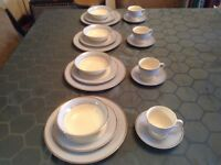 Vintage Retro Doulton Dinner service - Bruce Oldfield designer set, plates, tea cups, dishes