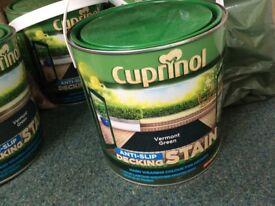 3x Cuprinol Ani-Slip Decking Stain 2.5L Vermont Green