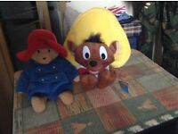12 Cuddly Toys All in Great condition ,,Paddington Bear,,Pink Panther,,Andrex Puppy and Lots More,,