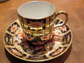Royal Crown Derby coffee cups and saucers x 6