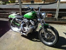 Harley Davidson Sporster in Fantastic Green custom paint