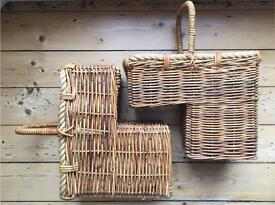 Rattan Wicker Stair Baskets (pair)