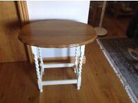 Oak Top lamp side table