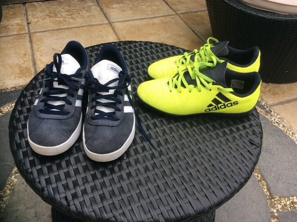 2 pairs of boys Adidas trainers | in Rumney, Cardiff | Gumtree