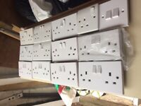 Double socket Outlets used white £0.80 each