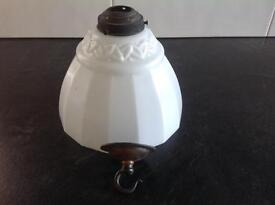 Antique Milk Glass shade dates back to early 1900's