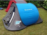 Quecha Pop up tents for sale ideal for family camping. See description for sizes. All good condition