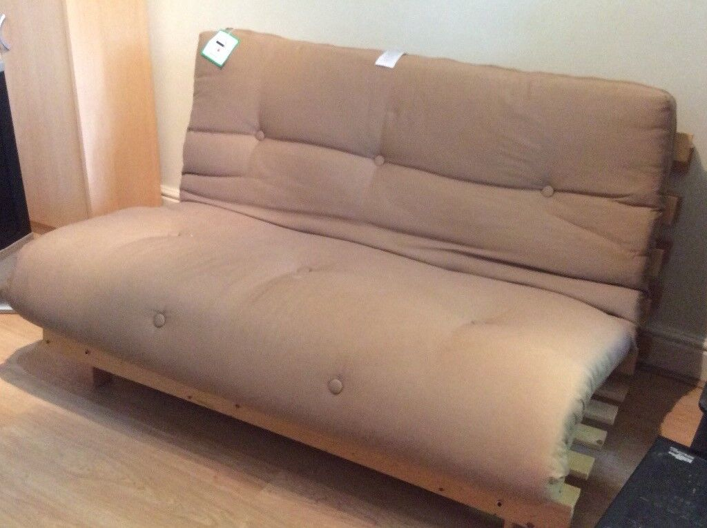 Tosa 2 Seater Futon Pine Sofa Vgc Er Collects Bought From Argos Brown Mattress