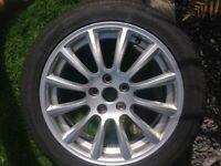 Jaguar alloy wheel.