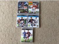 PS3 5 x football games £10