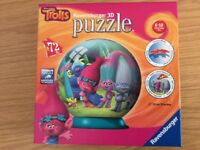 Ravensburger 3 D Trolls puzzle 72 pieces 13cm/5inches
