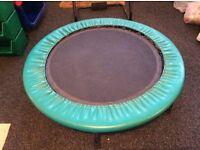 Trampoline - mini, indoor, exercise 75 cm diameter.