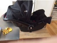 Joie car seat/ baby carrier