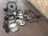 Old British motor bike parts