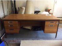 Large solid wood desk