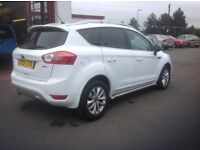 Ford KUGA 2.0 TDCI TITANIUM 2011 48000 miles FSH MOT ONE YEAR 3 owners from new white