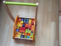 Brand new wooden baby walker never used