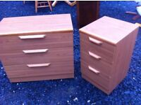 Modern bedroom drawers in lovely condition