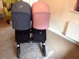 Bugaboo donkey duo with black frame