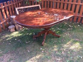 BEAUTIFULLY CARVED & DETAILED FAMILY DINNING TABLE
