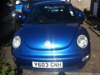 Volkswagen BEETLE 1.7cc petrol 2001 met blue